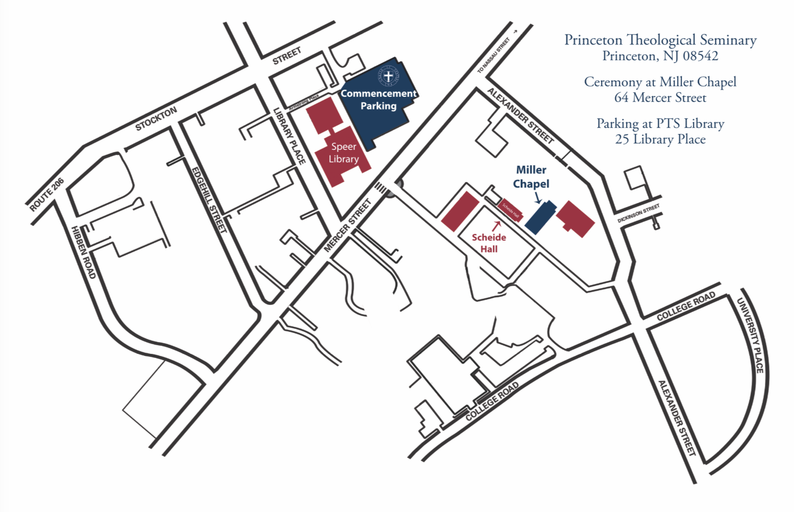 Graduation map | Private high school Princeton NJ
